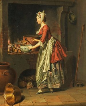 Pehr Hilleström (Swedish artist, 1732-1816) A Maid Taking Soup from a Cauldronblog