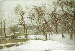 PissarroRoadWinterSunandSnow1869to70blog