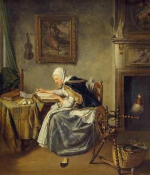 Wybrand Hendriks (Dutch painter, 1744-1831) Old Woman Readingblog