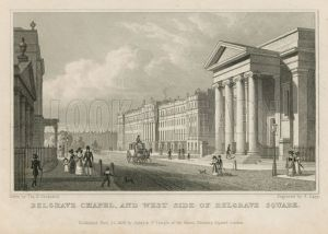 Belgrave Chapel and the west side of Belgrave Square