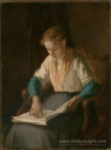 girl-reading-by-William-Morris-Hunt