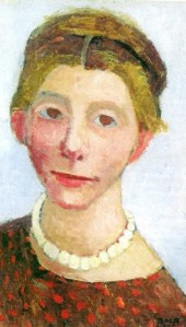 p5 Paula Modersohn-Becker (1876-1907) Self Portrait with Pearl Necklace 1906
