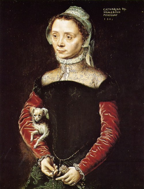 Caterina_van_Hemessen_Portrait_of_a_Woman_with_a_Dog