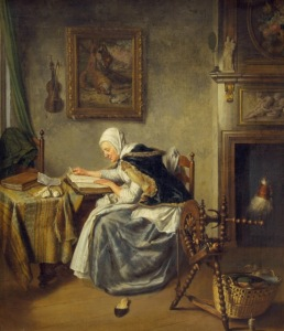 Wybrand Hendriks (Dutch painter, 1744-1831) Old Woman Reading