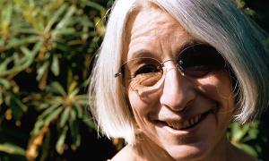Writer Jenny Diski pictured at her home. '