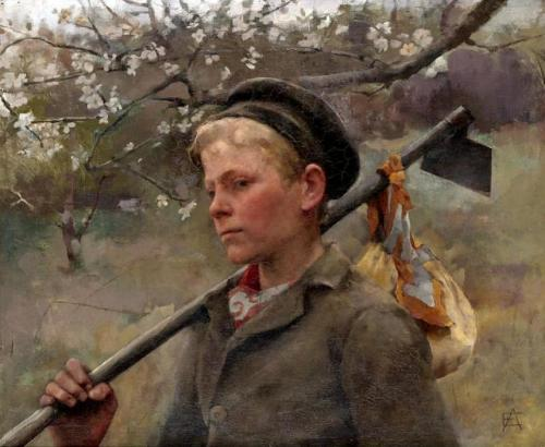 Elizabeth Adela Forbes - Boy with a Hoe