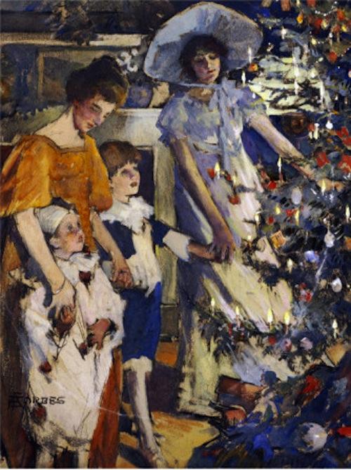 Elizabeth Adela Stanhope Forbes (Canadian artist, 1859–1912) Christmas Tree