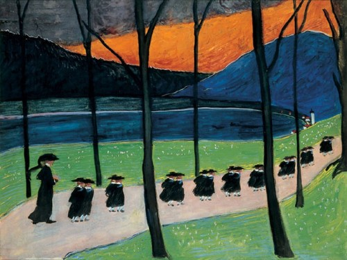 Marianne von Werefkin - Russian expressionist painter (1860 – 1938) - Autumn (School) 1907