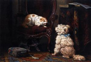 Henriette Ronner-Knip - The Uninvited Guest