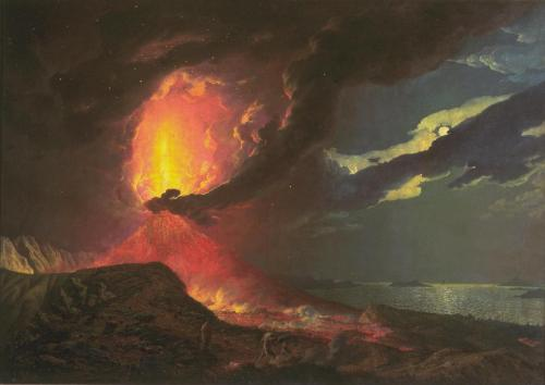 Vesuvius in Eruption, with a View over the Islands in the Bay of Naples c.1776-80 Joseph Wright of Derby 1734-1797 Purchased with assistance from the National Heritage Memorial Fund, the Art Fund, Friends of the Tate Gallery, and Mr John Ritblat 1990 http://www.tate.org.uk/art/work/T05846