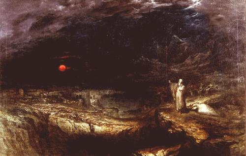 Mary shelleys the last man and the handmaids tale as womens john martin 1789 1854 the last man 1849 a later painting illustrating shelleys novel he was a friend malvernweather Choice Image